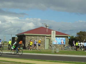 cyclists beach road