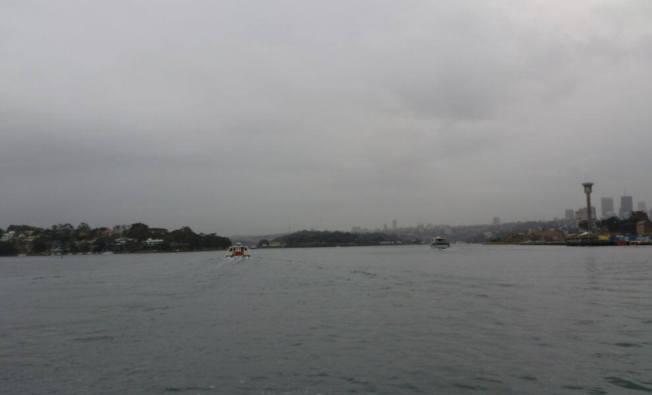 morning mist on harbour