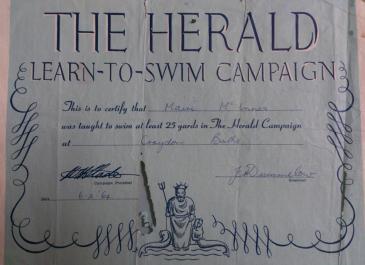 Herald certificate 1964