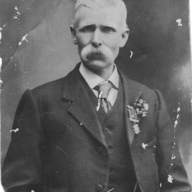 Angus wearing George's medals
