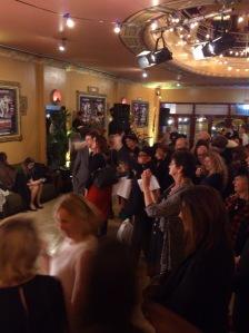 a huge crowd