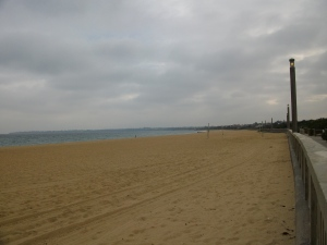 Mordialloc Beach in winter