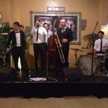 the jazz band kept us entertained