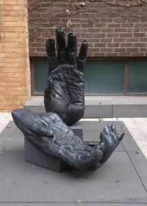 A sculpture in RMIT - which has a university and TAFE sector