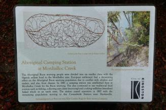 plaque 3 aboriginal camp at mordy creek