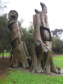 carved trees Attenborough Park