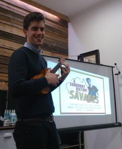 Nick Waxman and ukulele