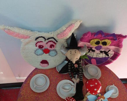 cheshire cat and mad hatter tea party