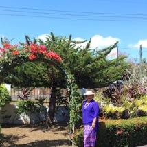 Aniva in front garden