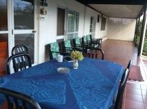 The shaded verandah