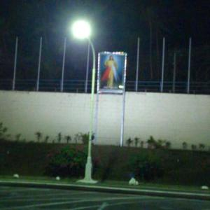 Jesus overlooking the airport carpark - I did feel blessed