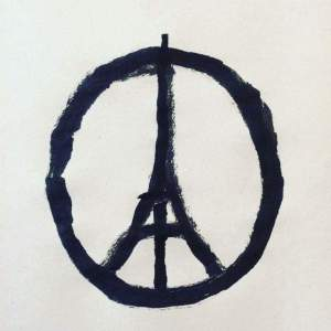 peace sign after paris terror attacks