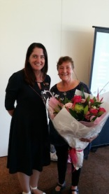 Mayor Tamsin and me with flowers
