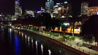 flinders street station and yarra