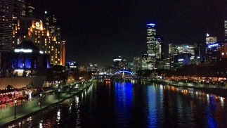 view from bridge over yarra