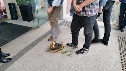 fire at smoking ceremony