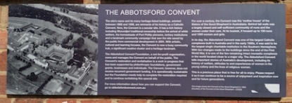 Abbotsford Convent sign.jpg