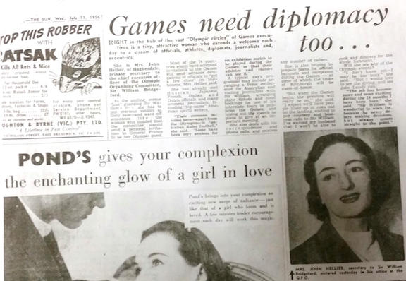 newspaper article 1956 Olympics