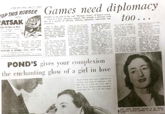 newspaper article 1956 Olympics