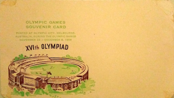 postcard melbourne 1956 olympics copy