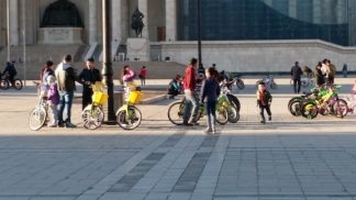 mongolians enjoying bikes and trikes 2