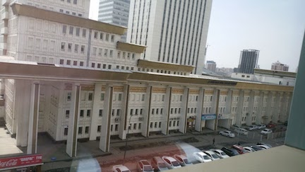 view from hotel window mongolia 1