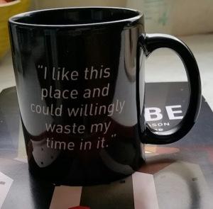 globe quote mug