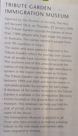 tribute garden explanation
