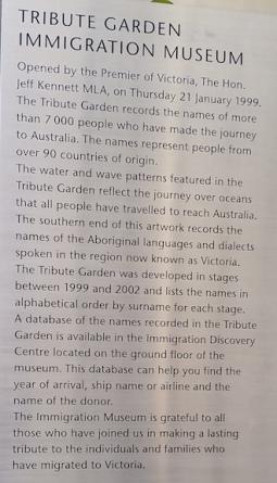 tribute garden explanation