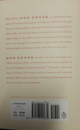 dog songs back cover
