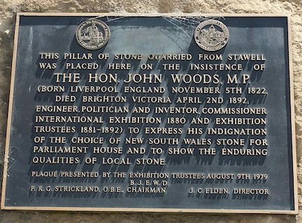 protest plaque explaining stone