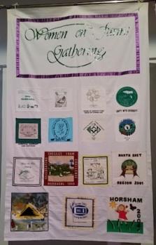 women gathering banner