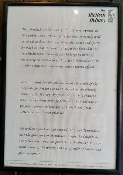 history sherlock holmes pub