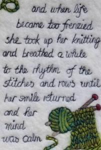 quote about knitting by Jennifer Shaw