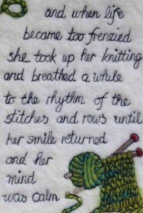 quote about knitting by Jennifer Shaw