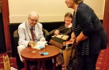 Alexander Mccall Smith signing books