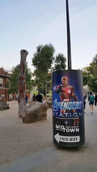 poster for avengers exhibit