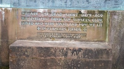 war memrials scotland with poem