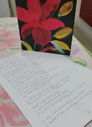 naoko's card and poem