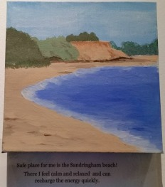 sandringham Beach painting Sundowner House