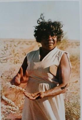 Jukuna with seed gathered, 1983