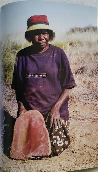 Ngarta grandmother's grinding stone 1997