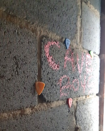 guitar plectrums and graffiti