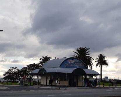 storm approaching kiosk