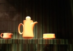 coffee set orange 70s