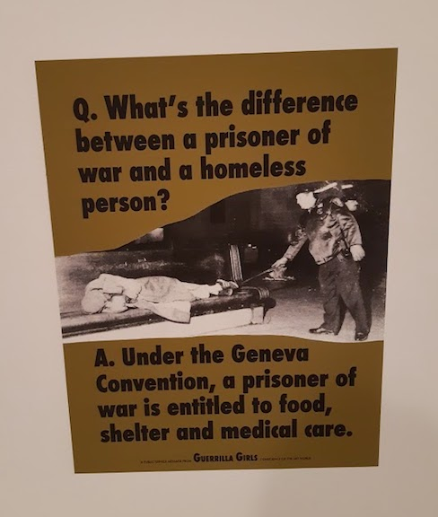 guerrilla girls and homeless