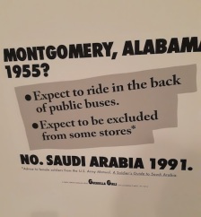 guerrilla girls and saudi arabia