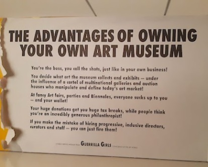 guerrilla girls art museum ownership