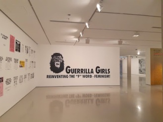 guerrilla girls exhibiton entrance pic