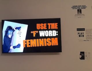 use the word feminism large